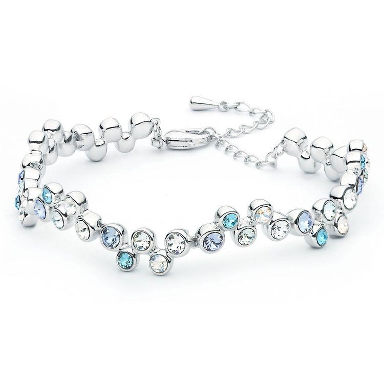 Swarovski Elements Tennis Bracelet Sterling Silver