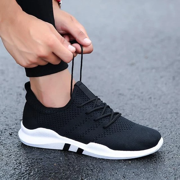 Mens Athletic Sneakers Outdoors Sports Running Casual Fitness Breathable Shoes S