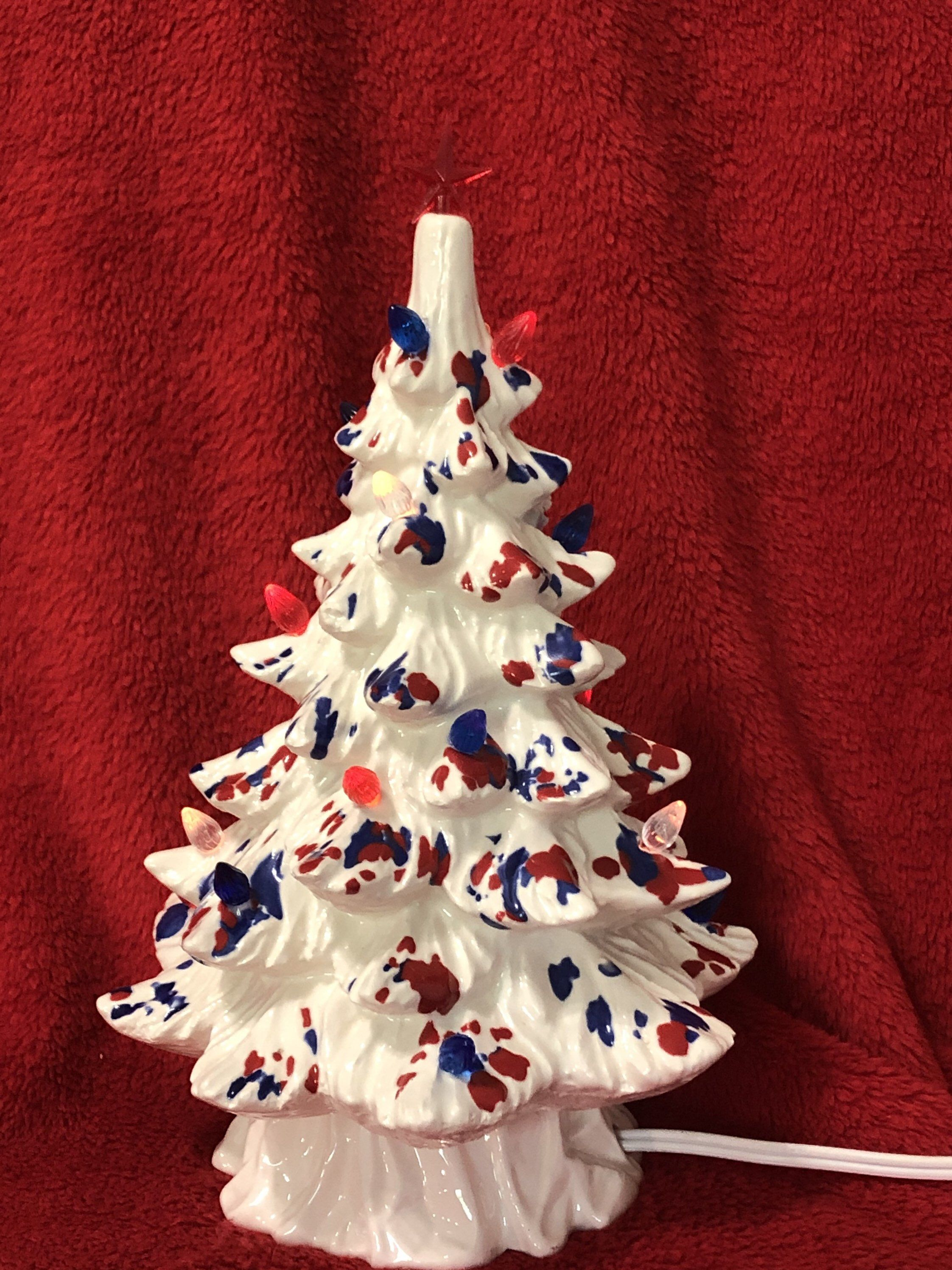 Ceramic Memorial Day Tree With Bulbs And Light Pack Etsy In 2020 Christmas Tree Shop Small Christmas Trees Ceramic Christmas Trees
