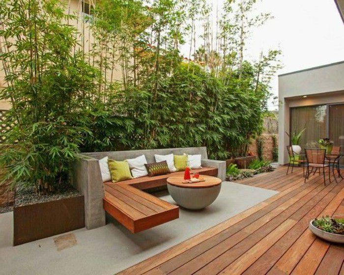 Voici nos exemples pour un banc de jardin. | Cour moderne, Dans la ...