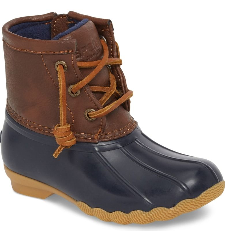 cf2340e2fe0 Free shipping and returns on Sperry Kids Saltwater Duck Boot (Walker ...