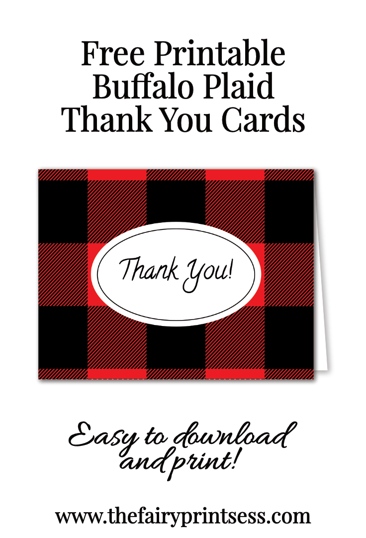Buffalo Plaid Thank You Cards Free Download Easy to Print