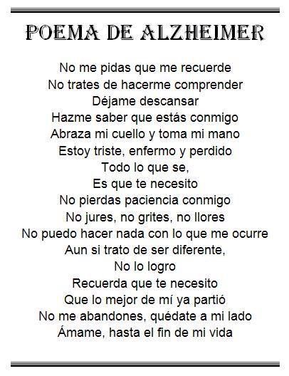 Poema De Alzheimer Frases De Amor Frases De Sentimientos