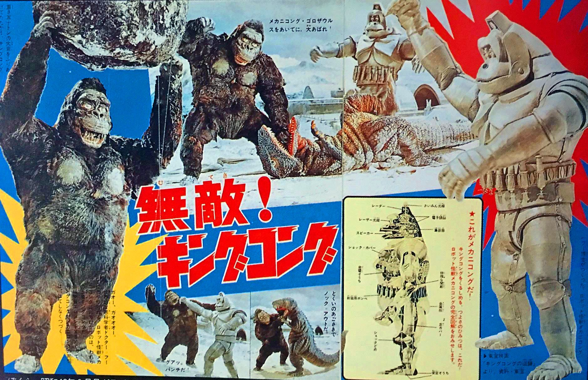 the unbeatable kong and mecxhanikong from king kong escapes 1967 ゴジラ キングコング コレクターズ
