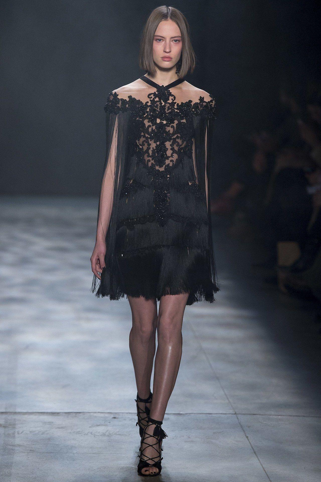 fashionpassion dress short dress model marchesa fashion style trend glam glamour