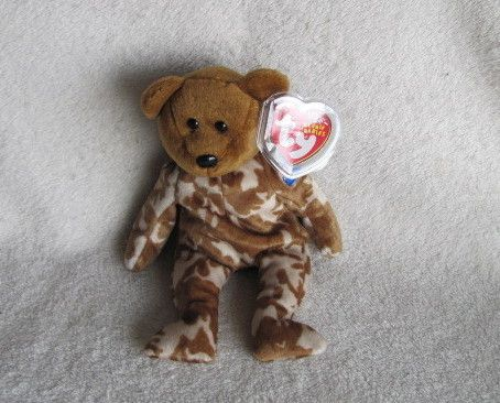 03872684dcd Ty Beanie Babies Baby Hero the Bear (British Version) Retired
