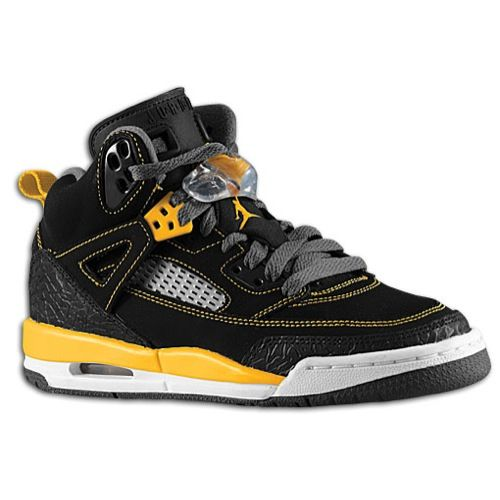 wholesale dealer f31b9 a2092 Jordan Spiz ike - Boys  Grade School - Basketball - Shoes - Black University  Gold Dark Grey White