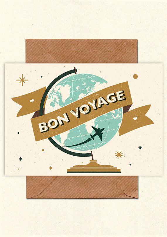 Bon voyage greetings card with kraft envelope by telegramme light bon voyage greetings card with kraft envelope by telegramme m4hsunfo