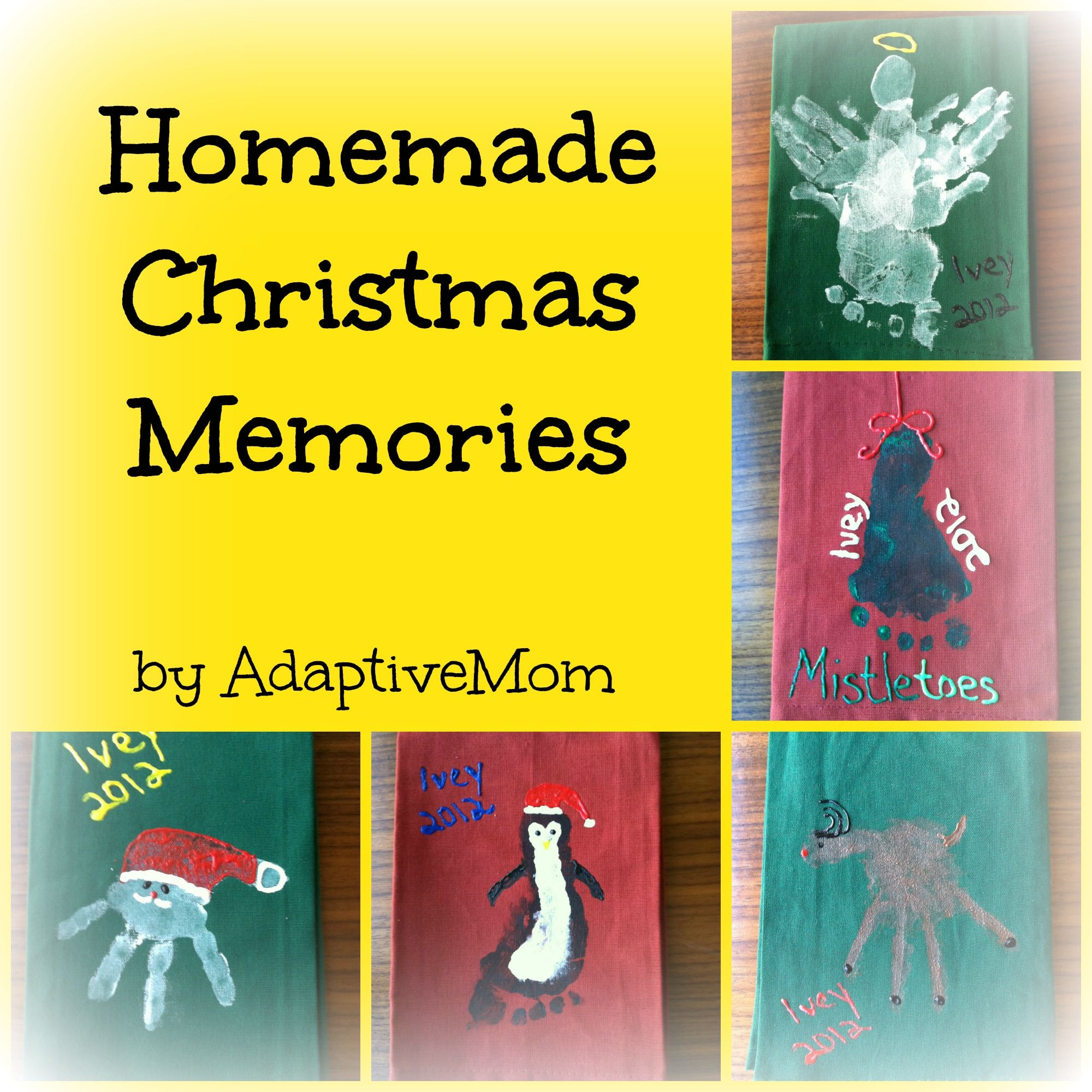 Christmas Dish Towels kids craft homemade t holiday