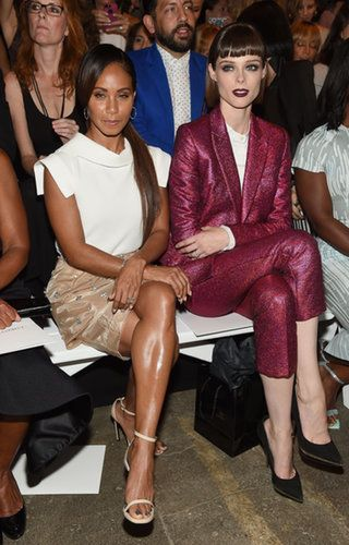 Jada Pinkett Smith and Coco Rocha at the Christian Siriano Spring 2015 runway show.                  Source: Getty / Jamie McCarthy