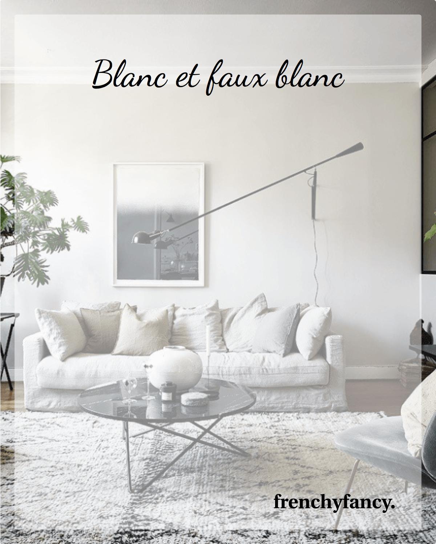 Blanc Et Faux Blanc Deco Salon Blanc Couleur Mur Salon Et