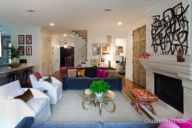 Family Room by Sally Wheat via La Dolce Vita Blog