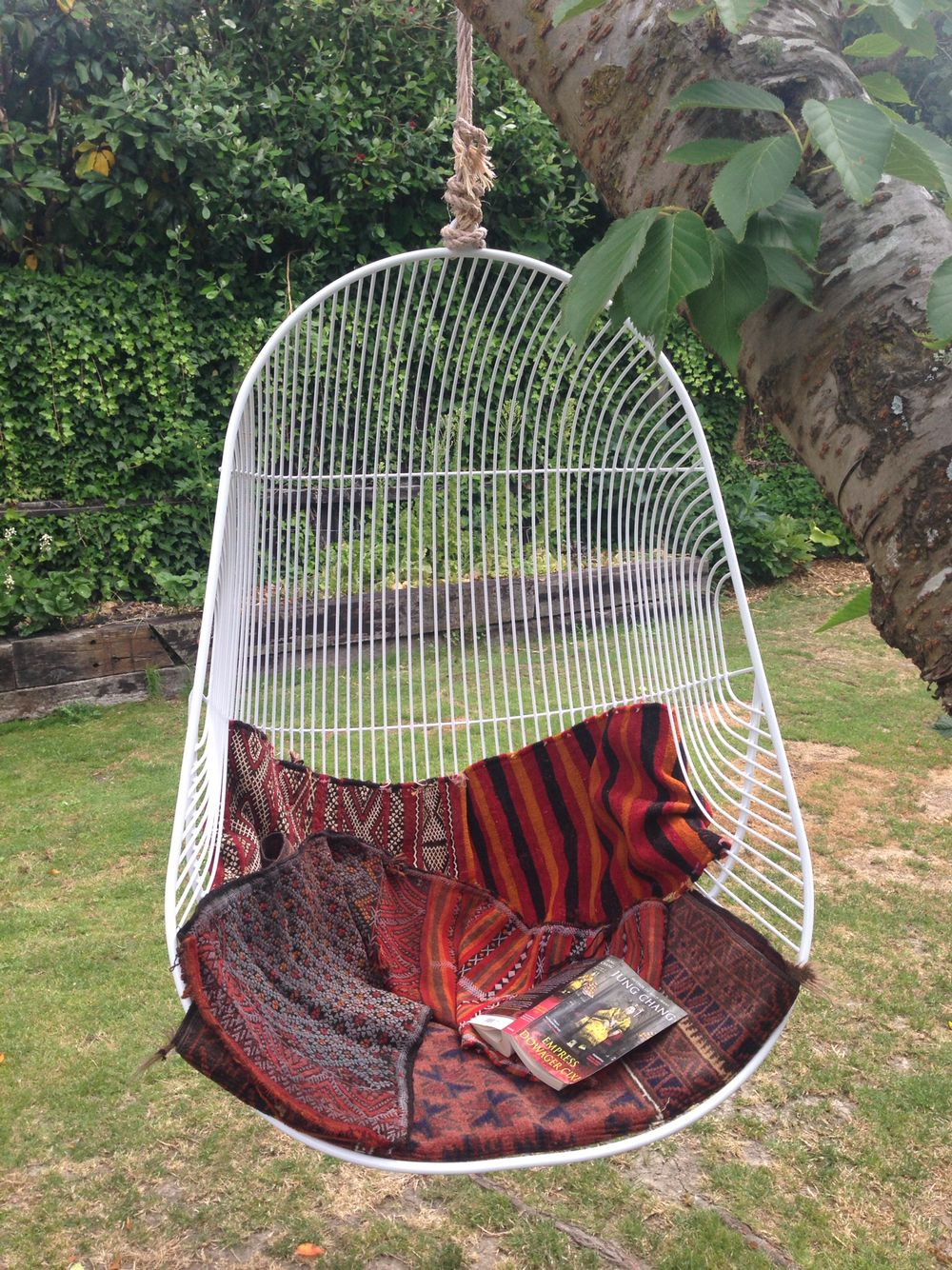 Wire hanging swing chair. Handcrafted furniture from www