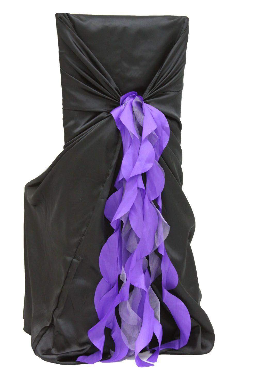 Curly Willow Chair Sash - Royal Blue- CV Linens