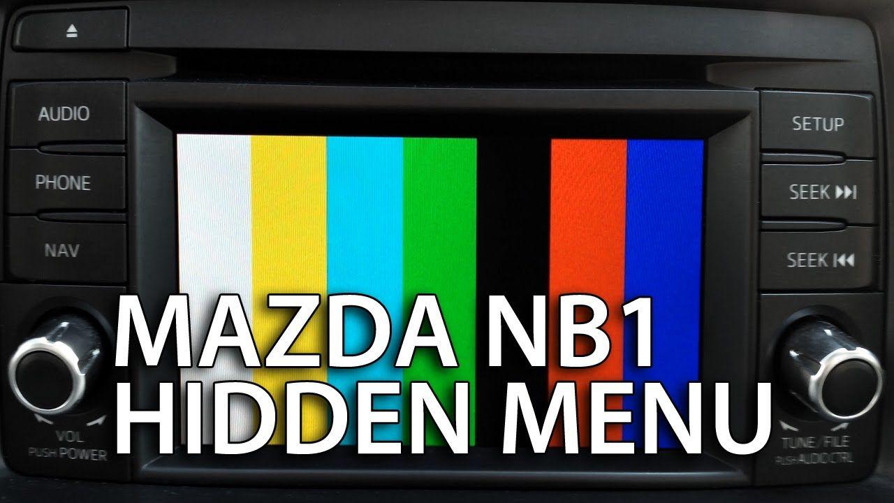 Mazda & #TomTom NB1 navigation hidden menu (diagnostic
