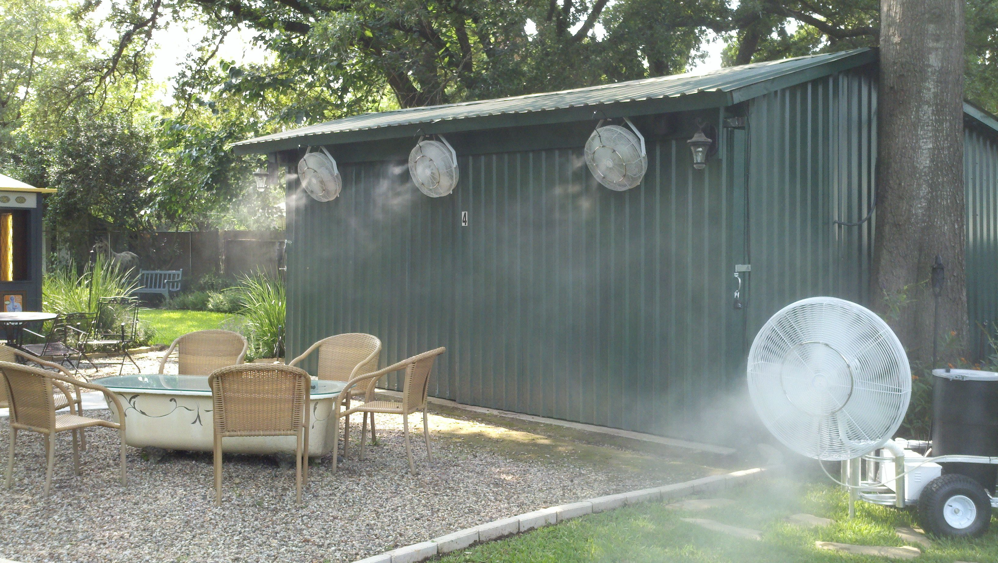 Misting Fan For Outdoor Cooling Patio Misting System Backyard