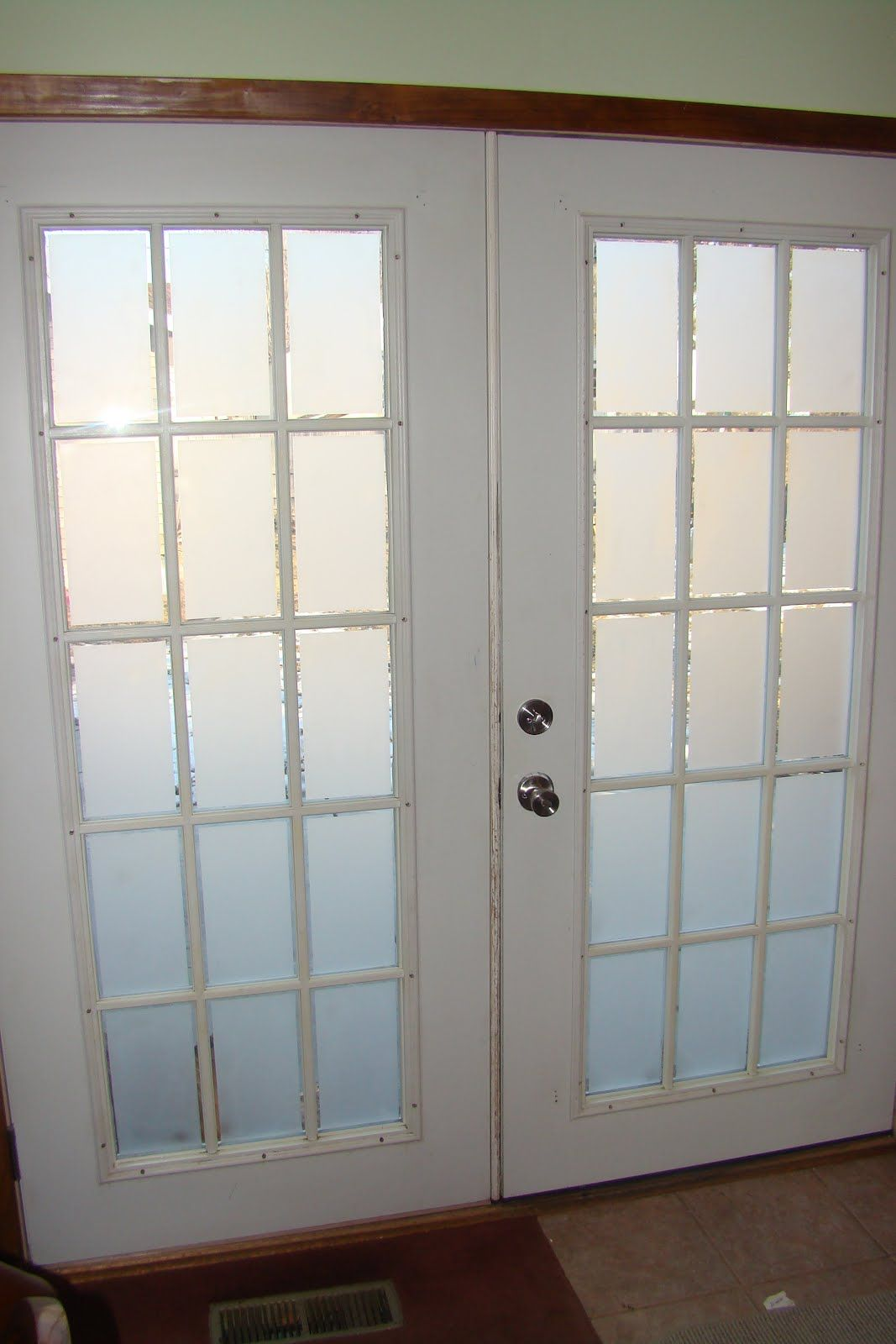 Frosted Glass On French Doors Glass French Doors Double Doors