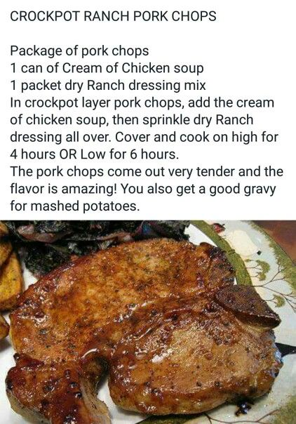 Pork chop crock pot recipes pinterest