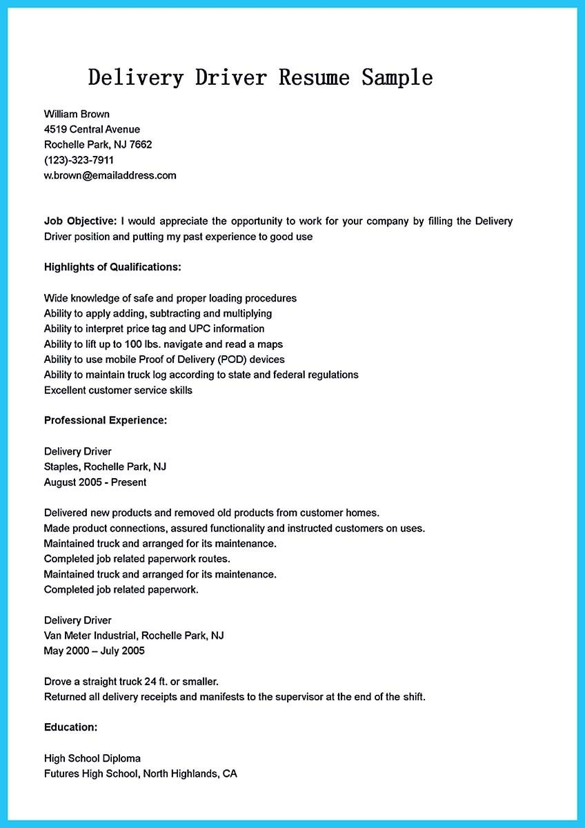 School Bus Driver Resume