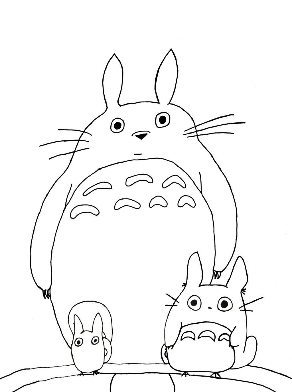 Totoro Free Coloring Pages On Masivy World Totoro Free Coloring Pages Coloring Pages [ 1371 x 1024 Pixel ]