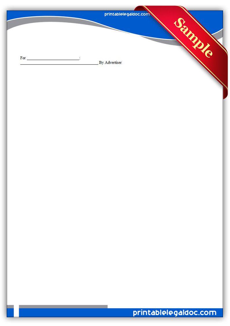 Free Printable Facility Stadium Advertising Agreement