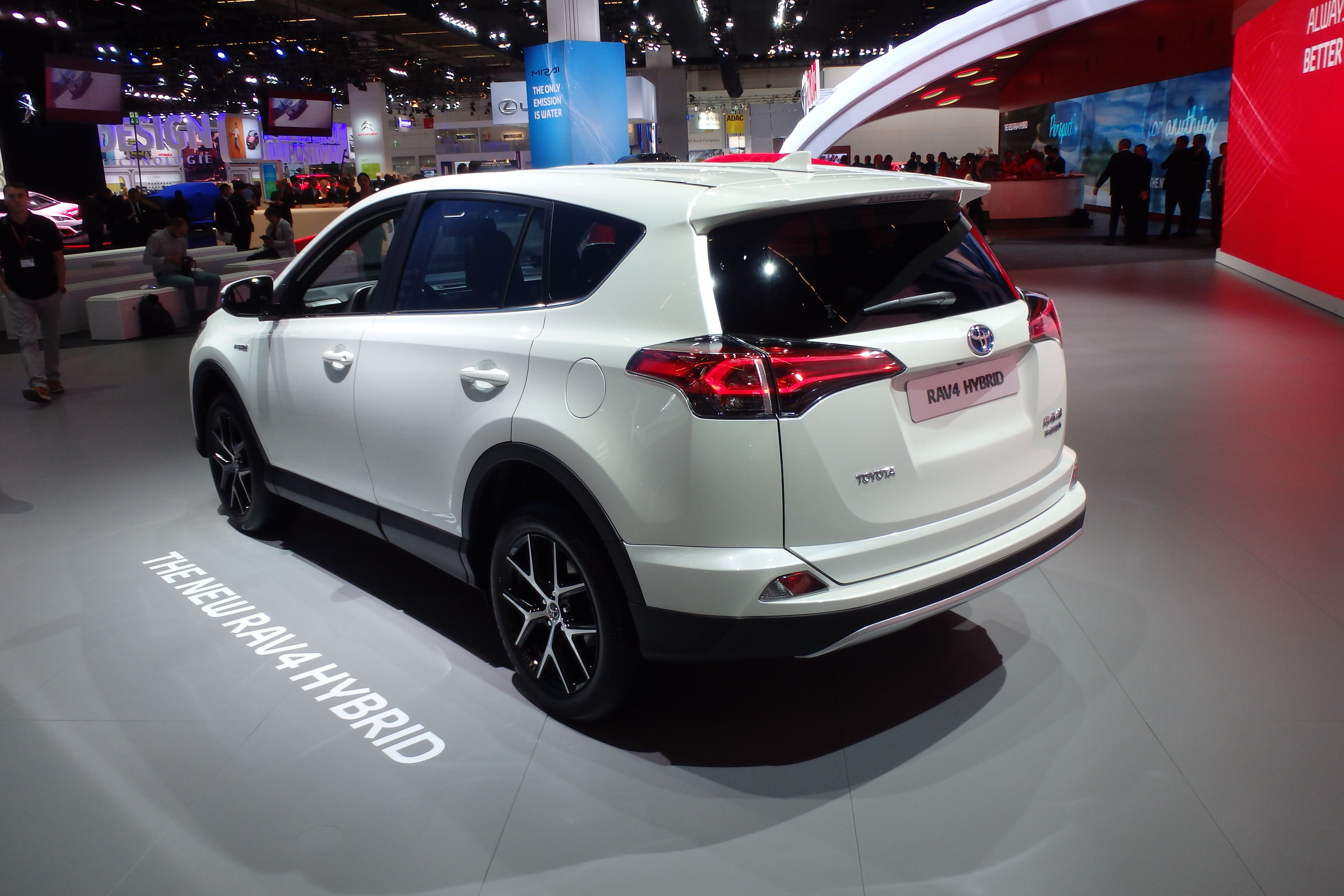 The 2016 Toyota RAV4 is shown at the Frankfurt motor show adding
