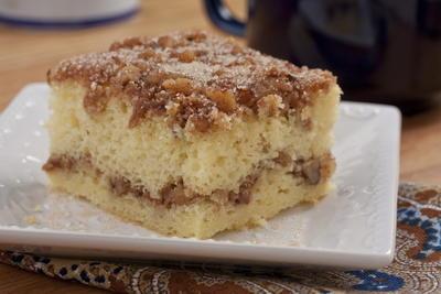 Sour Cream Coffee Cake Mrfood Com Sour Cream Coffee Cake Coffee Cake Recipes Coffee Cake