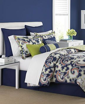 CLOSEOUT Martha Stewart Collection Bedding Impulse 6 Piece Full