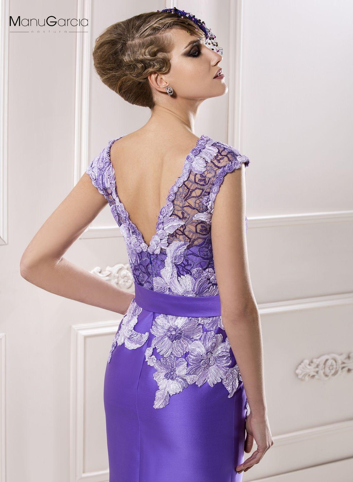 Magnifico cuerpo en tul bordado con motivo floral #byManuGarcia ...