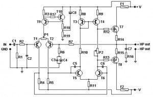 100w базовый усилитель MOSFET