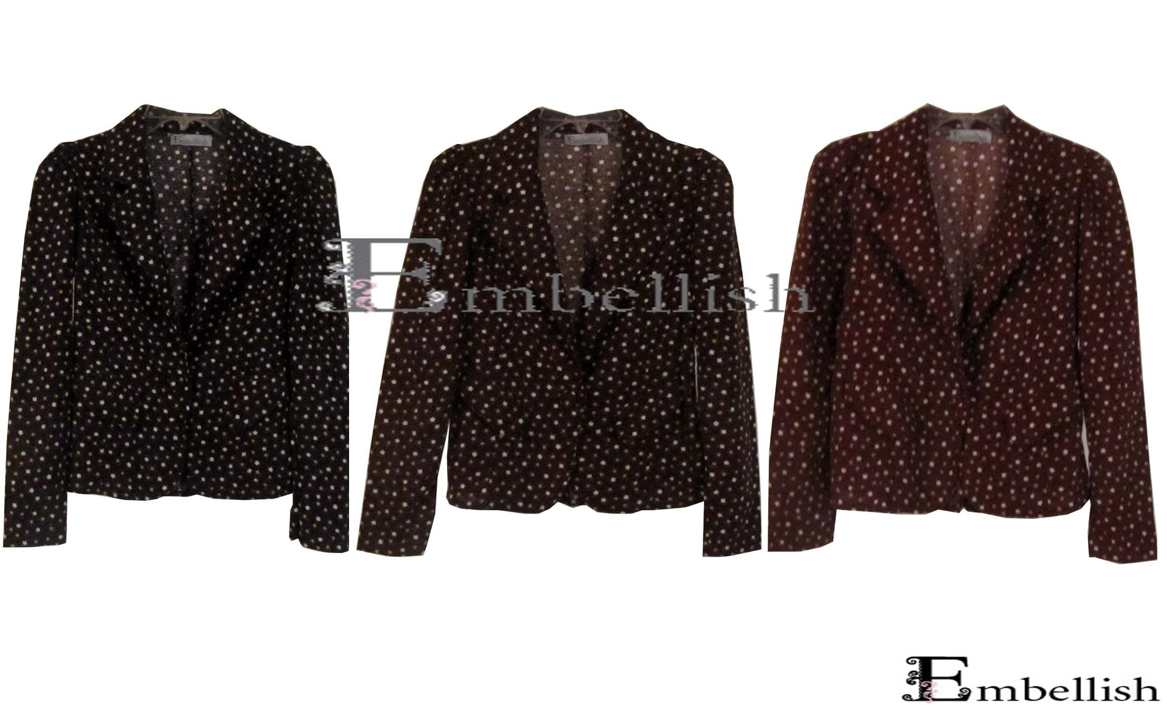 Php895 Bolivia Blazer (Black, Brown and Maroon)