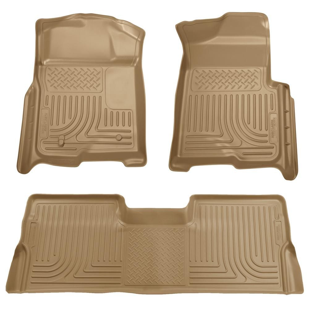 Husky Liners Front & 2nd Seat Floor Liners Fits 0810 F250
