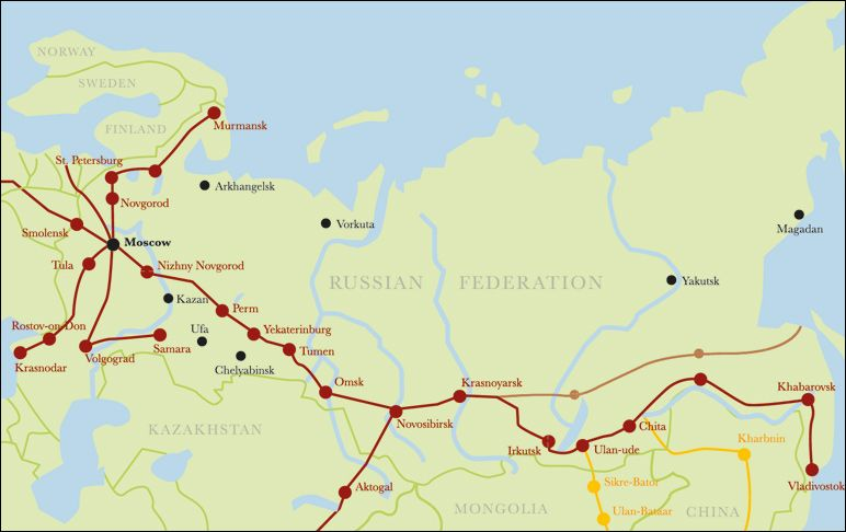 trans siberian railway map Google Search RTW
