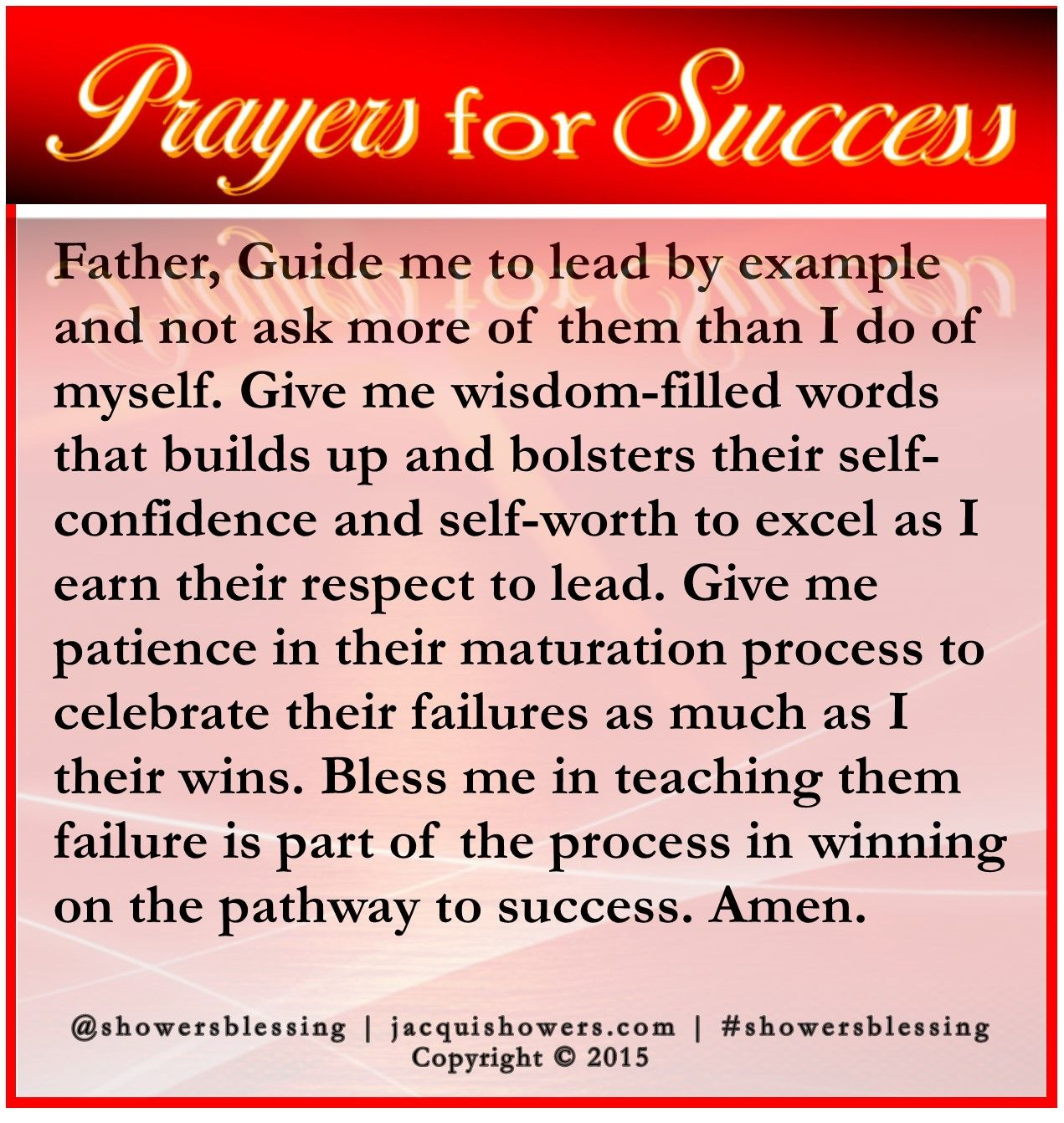 prayer for success father guide me to lead by example and not prayer for success father guide me to lead by example and not ask more