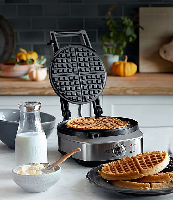 Breville No Mess Classic Round Waffle Maker Belgian Waffle Maker Waffles Maker Waffles