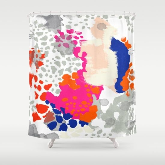 Gold Shower Curtain, Shower Curtains, Pink Bathrooms, Abstract Paintings,  Bathroom Ideas, Bathroom Pink, Abstract Art Paintings, Bathrooms Decor