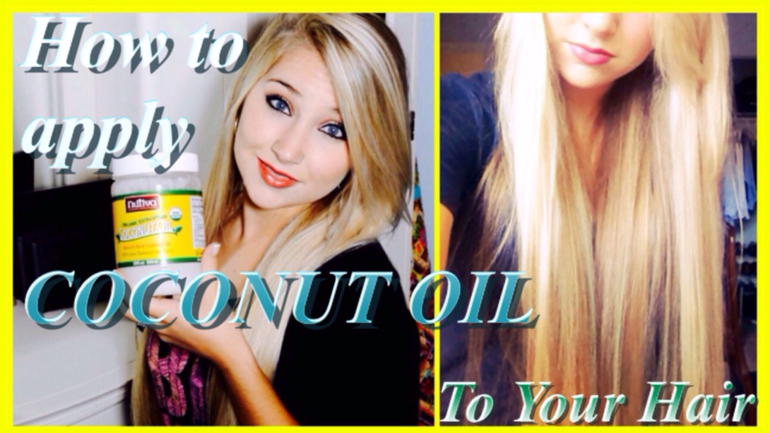 ♔ how to apply coconut oil ♔ | grow long, healthy hair and repair