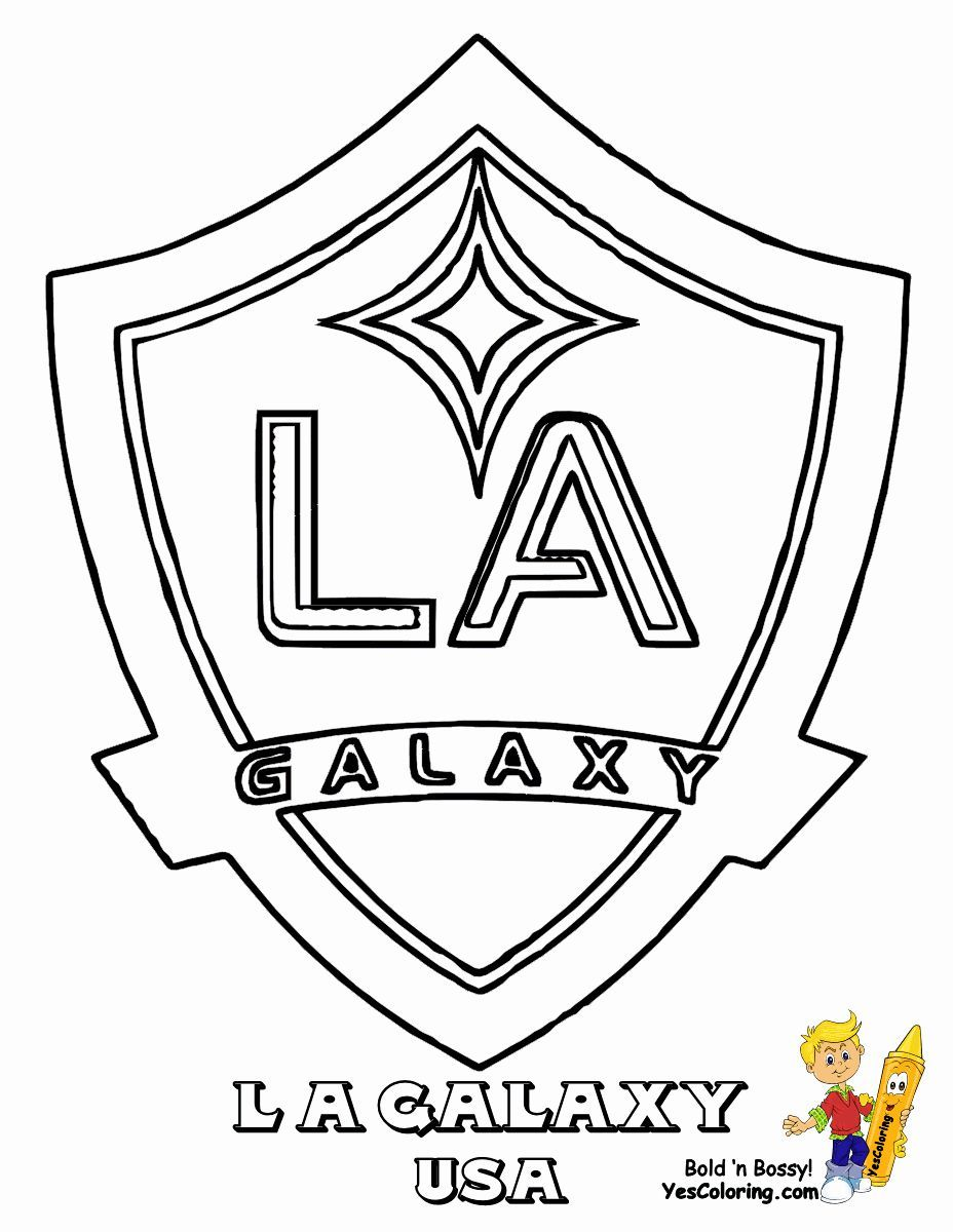 Football Logo Coloring Pages New Los Angeles Galaxy Coloring Pages Get Coloring Angel Kleurplaten Logo S Kleuren