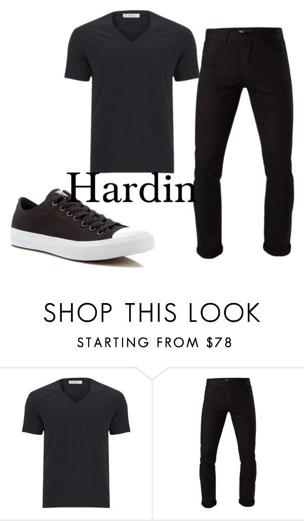 """Hardin"" by marie-zoe-710 on Polyvore featuring Versace, 3x1, Converse, men's fashion et menswear"