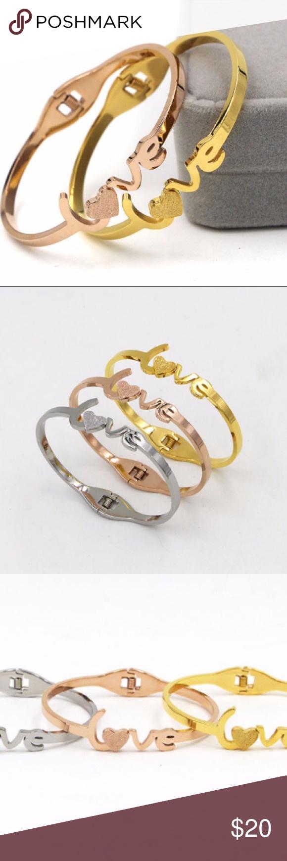 love Bracelet Rose Gold Plated Love Bracelet Material Titanium