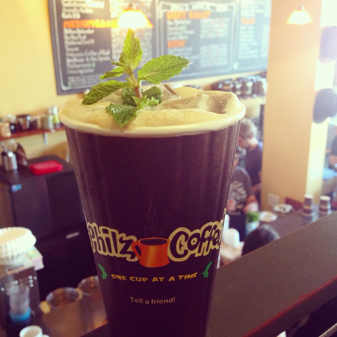 Mint Mojito Or Ecstatic From Phiz Coffee Is Incredible Berkeley Sf Palo Alto Mint Mojito Philz Coffee Food