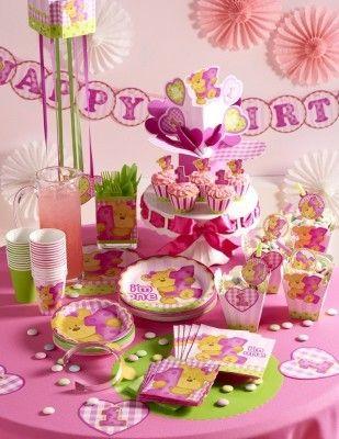 1 Geburtstag Rosa Teddy Party Deko Mädchen Ideen Erster