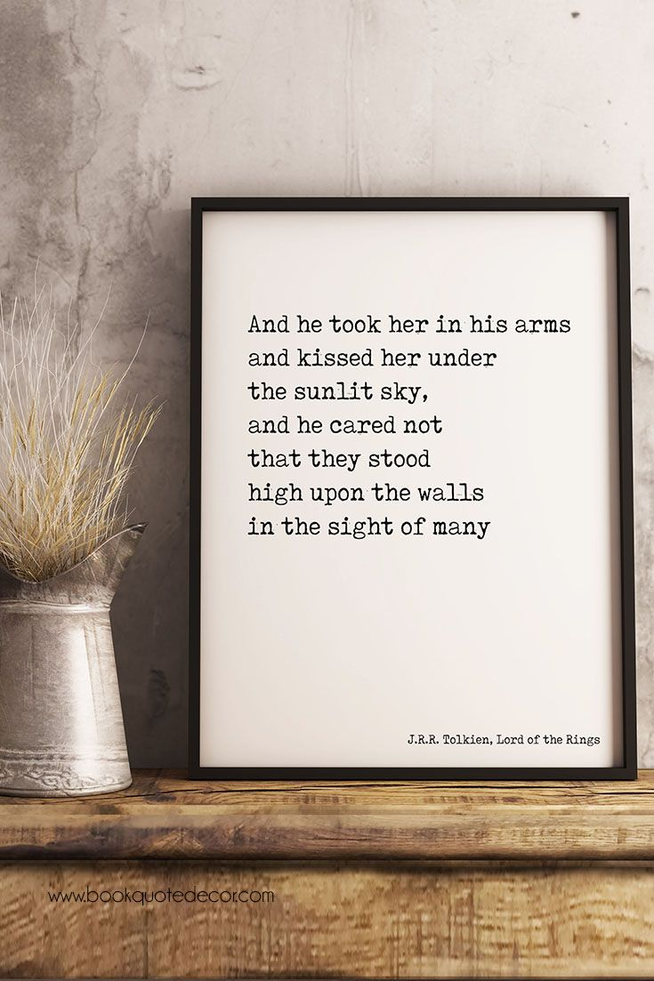 Minimalist Romantic Jrr Tolkien Lord Of The Rings Framed