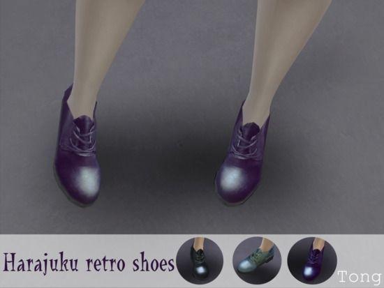 Harajuku retro shoes. The Sims Resource.  Sims 4