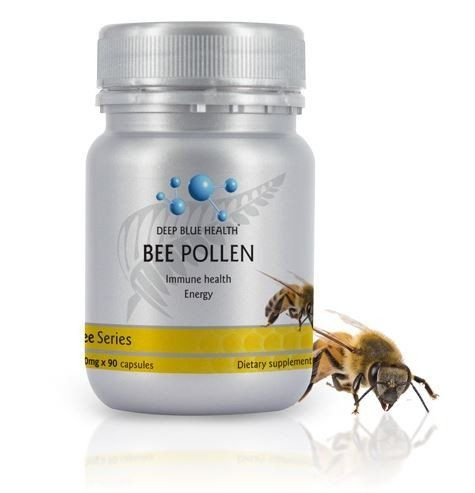 BEE POLLEN Energy Immune health Our SecretSourced from hives in the green fields of the South Island, New Zealand, Deep Blue Health Bee Pollen is rich in protei