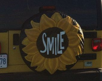 Hand Painted Spare Tire Cover By Kateskraftsandgifts On Etsy Spare Tire Covers Yellow Jeep Tire Cover