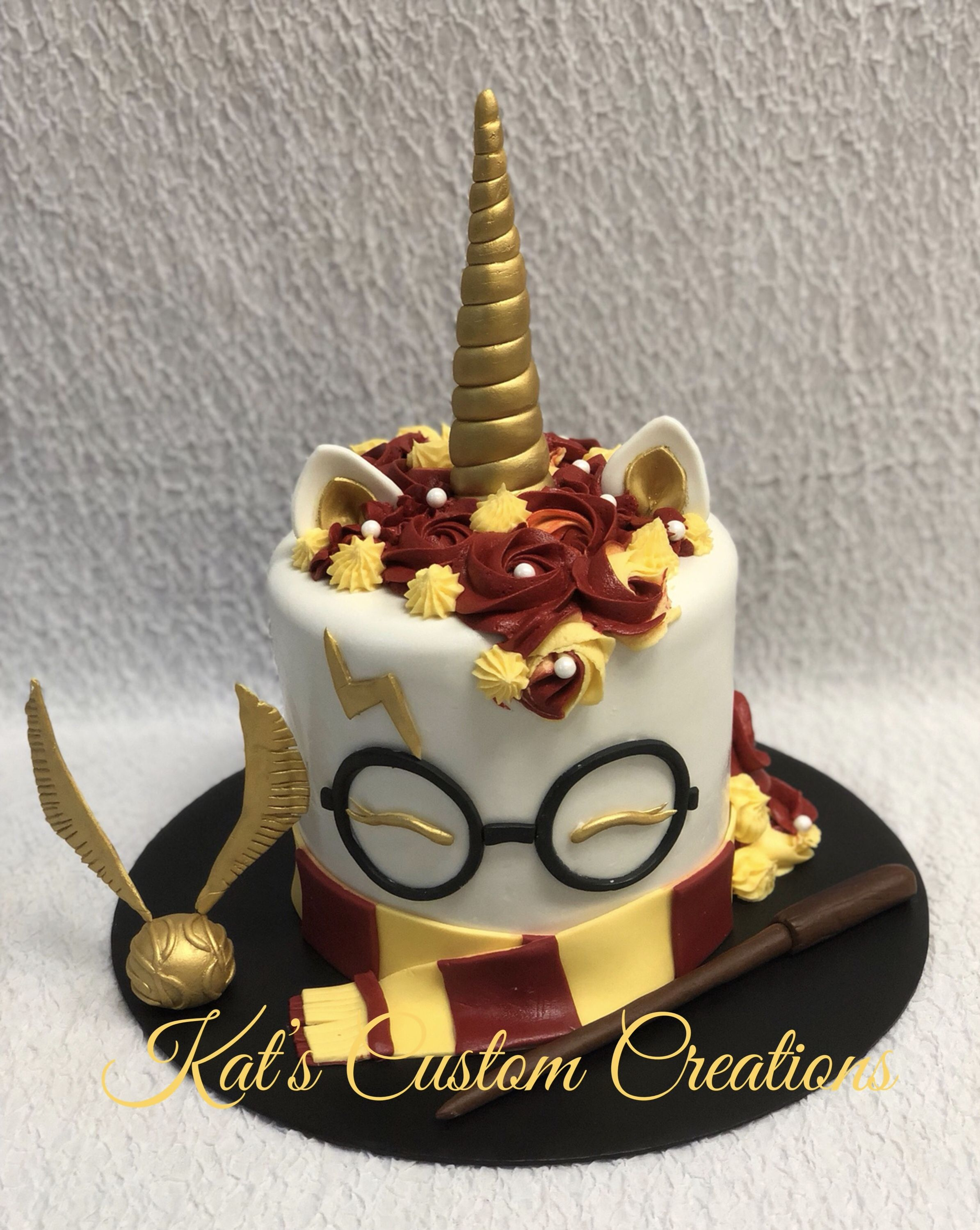 Tremendous Harry Potter Unicorn Cake Harry Potter Birthday Cake Harry Personalised Birthday Cards Paralily Jamesorg