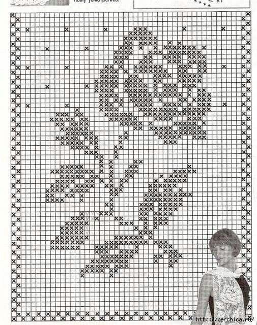Patron Pull rosa con tallo | Diagramas, patrones, dibujos, contornos ...