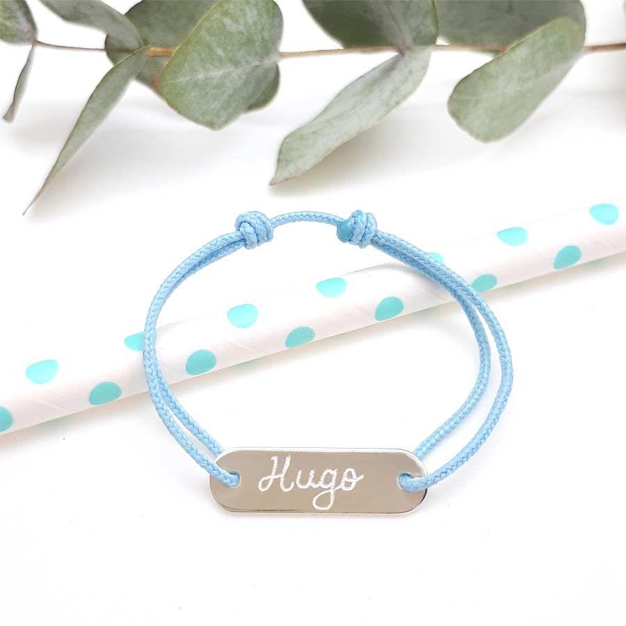magasiner pour le meilleur code promo choisir le plus récent Idée cadeaux de baptême garçon : bracelet cordon gourmette ...