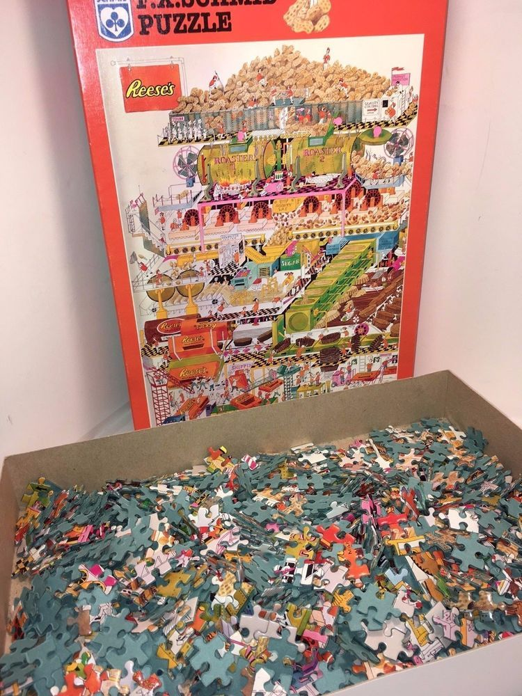 F.X Schmid Reeses Peanut Butter Cup Factory 1000 Piece Puzzle